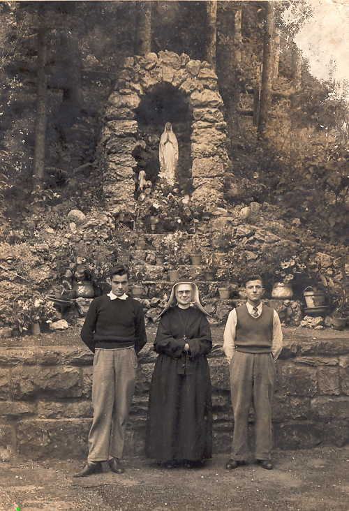 Switzerland  -Convent - Sister DeLariva and the Zavagnin brothers.