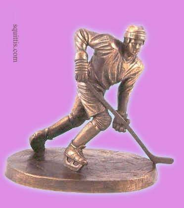 Statue of hockey player