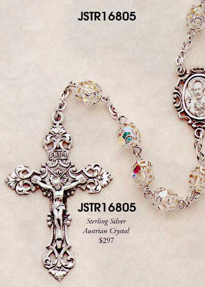 Rosary in Austrian Crystal