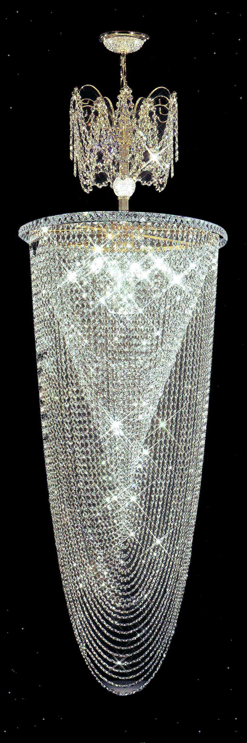 Large Entry Crystal Chandeliers Squitti S A Beautiful
