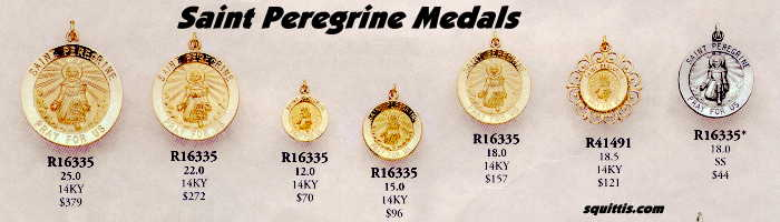 Saint_Peregrine_Medals_In_Gold