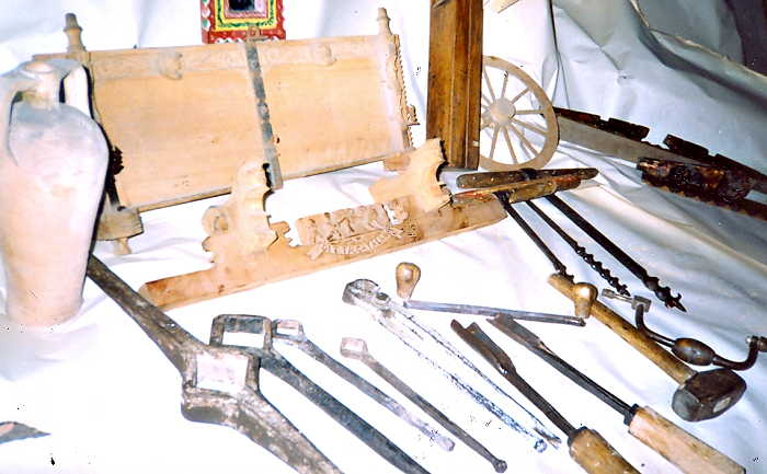 Sicilian Wood Cart Tools