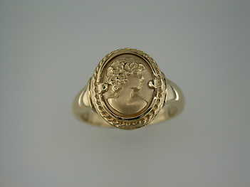 gold cameo ring 1